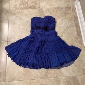 ModCloth strapless ruffle/bow dress size S